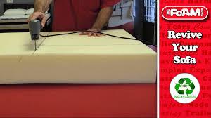 sofa cushions replacements the foam shop sofa cushion replacement youtube