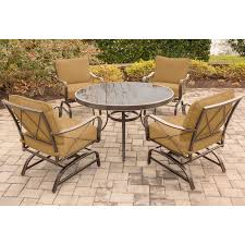 Outdoor Innovations Patio Furniture Outdoor Innovation Lido Aluminum 5 Piece Round Patio Dining Set