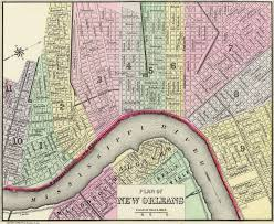French Quarter Map New Orleans by Mitchell U0027s Plan Of New Orleans 1890