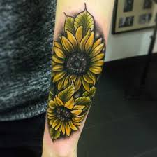 150 vibrant sunflower tattoos and meanings april 2018