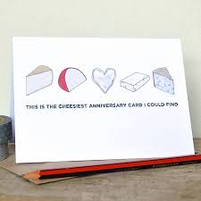 anniversary card for message cheesy birthday or anniversary card by becka griffin illustration