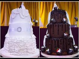3 tier wedding cake bride u0026 grooms two sided cake youtube