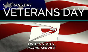 veterans day mail delivery post office banks closed