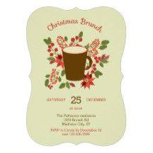 christmas lunch invitation christmas brunch invitation or brunch invite