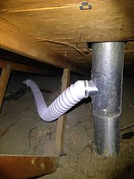 bathroom exhaust connected to active flue pipe