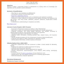 Entry Level Phlebotomy Resume Examples by Phlebotomist Resume Sop Example