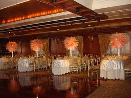 ostrich feather centerpiece and coral ostrich feather centerpieces at westbury manor