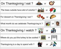 boardmaker thanksgiving page november speech therapy ideas