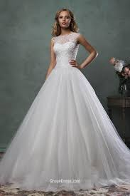 romantic strapless sweetheart layered tulle ball gown wedding