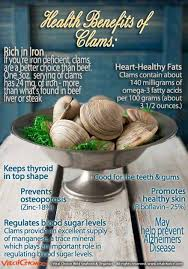 clams are a great addition to your diet especially if you have a