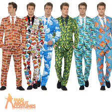 mens stag party stand out suits funny comic fancy dress costume
