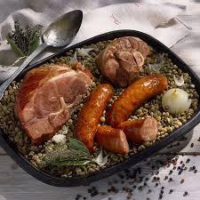 cuisiner les lentilles vertes recette petit salé aux lentilles vertes du puy