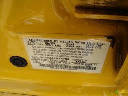 2005 sentra color code e10 for sunburst yellow photo 43841129