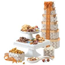 gourmet snacks same day delivery broadway basketeers thinking of you gift tower with an