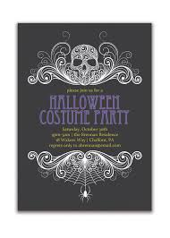 halloween party invitation costume by digibuddhapaperie