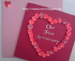 chami crafts handmade greeting cards anniversary card with