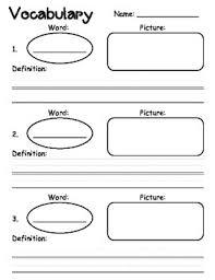 free vocabulary graphic organizer this vocabulary graphic