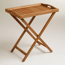folding oversized wood tray table in espresso outdoor wood tray table world market