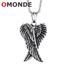 wings necklace pendant images Stainless steel angel wings pendant necklace omonde jpg