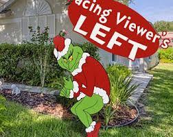 grinch yard etsy