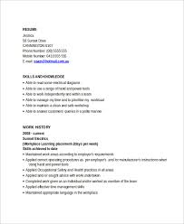 Resumes For Electricians Sample Electrician Resume Template 7 Free Documents Download In