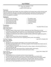 sales resume exles best sales team member resume exle livecareer
