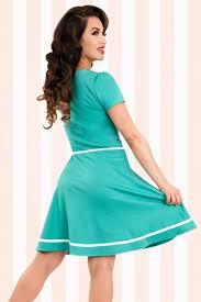 50s ellie sailor dress in mint