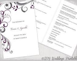 Wedding Program Catholic Catholic Wedding Program Template Champagne Scroll