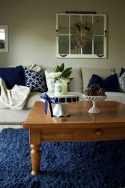 Neutral Living Room Navy And Neutral Living Room Tour The Organized Mama