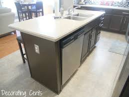 kitchen island construction amazing kitchen island with dishwasher electrical outlet next to