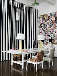 Black White Stripe Curtain Navy Blue Living Room Decorating Ideas Black And White Striped