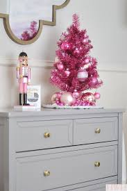 small white christmas tree a pink tinsel christmas tree this year check them out pink