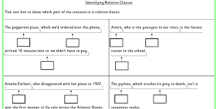 identifying relative clauses ks2 spag test practice classroom