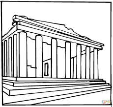 parthenon greece coloring page free printable coloring pages