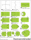 Origami Piggyback ride grasshopper en.origami-club.com