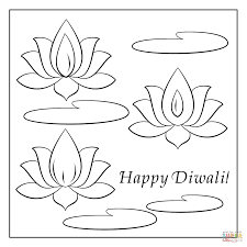 happy diwali card coloring page free printable coloring pages