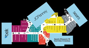 Blossom Music Center Map Complete List Of Stores Located At Apple Blossom Mall A Shopping