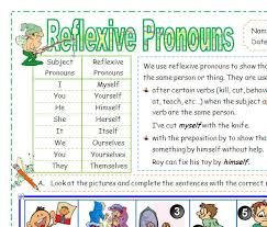reflexive and intensive pronoun by adi lessons tes teach