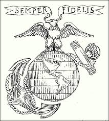 marine corps coloring pages color zini