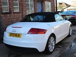 2012 audi tt 1 8t fsi roadster manual 6 speed white 2 owners