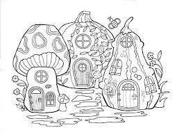coloring pages fairy house coloring pages ideas
