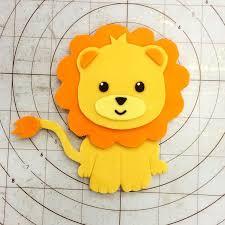 lion cake topper fondant lion tutorial 1st birthday lions