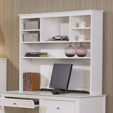 White Computer Desk With Hutch White Desk And Hutch Freedom To