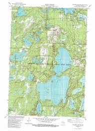 Wisconsin State Map by Boulder Junction Topographic Map Wi Usgs Topo Quad 46089a6