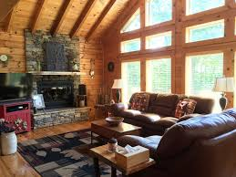 luxury log cabin hideaway near lake chatuge vrbo