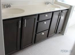 Update Bathroom Vanity Staining And Updating Bathroom Cabinets Persia Lou Updating