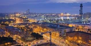barcelona city view spain catalonia barcelona city view dusk photographic print by