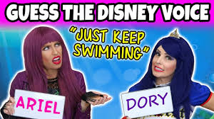 Challenge Is It Guess The Disney Character Voice Challenge Is It Ariel Or Dory