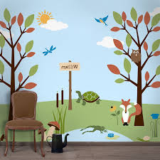 28 wall mural templates nursery wall decals tree wall wall mural templates baby nursery forest wall mural stencil kit for kids room