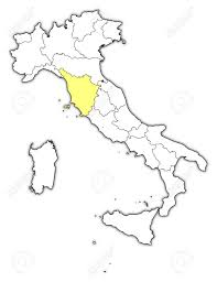 Tuscany Italy Map Political Map Of Italy With The Several Regions Where Tuscany